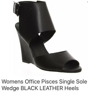 20cbbb0f2 Office Wedge Black Pisces Single Sole Shoes UK 7 EUR 40 New In Box ...