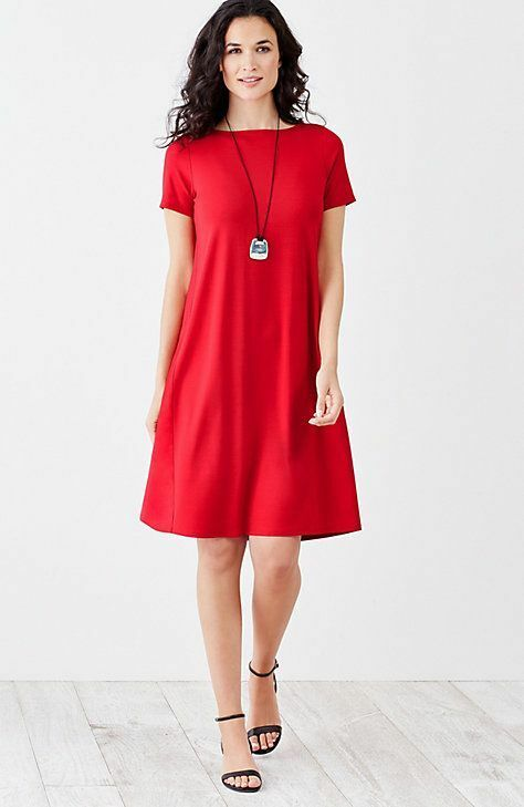 J. Jill - Wearever Scarlet  Pleated-Back A-Line Dress - XS but perfect for S