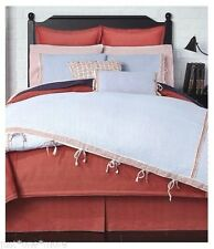 CREMIEUX QUEEN Duvet Cover Set NWT Red White Blue COTTON Nautical Stripe CAMDEN