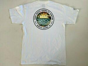 Vans New 2020 VTCS Lockup Surf Short Sleeve White T-Shirt Men's Medium