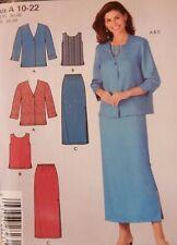 4413 Simplicity Pull On Skirt Sleeveless Top Jacket size 10 12 14 16 18 20 22