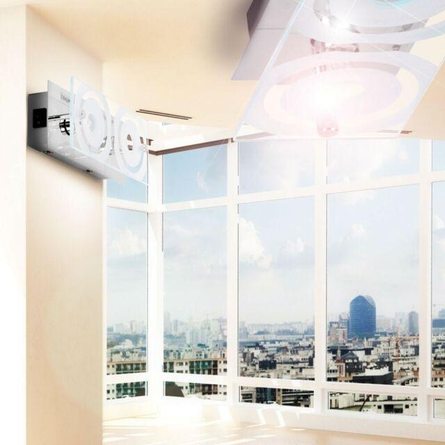 2er Set Design Wand Leuchte Alu Glas Lampe Wohn Ess Schlaf Zimmer Diele Büro