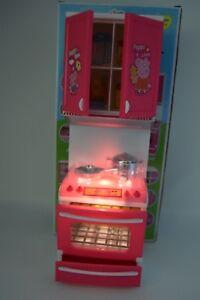 Pink Pig Mini Modern Kitchen Set Cooker Hob Cupboard Pretend Play