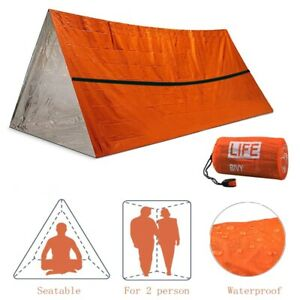 EMERGENCY SHELTER Survival Camping Tent Outdoor Hunting Waterproof Reflective