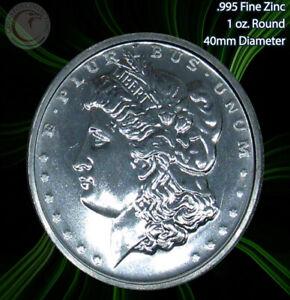 "2011 ""Morgan"" 1oz .995 Zinc Round Limited and Rare"