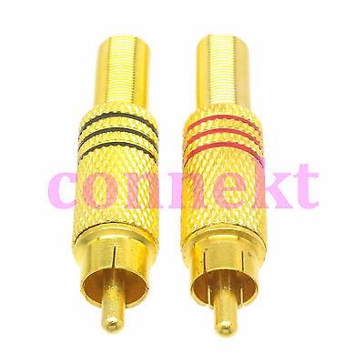 2pcs Audio RCA TV male plug spring jacket RG59 RG58 LMR240 LMR195 RF connector