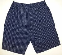 Judy's Womens Ladies Navy With White Polka Dot Shorts Size Large J64 A1