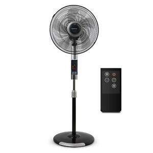 Ventilatore a piantana con telecomando timer 8 ore, supporto regolabile con LED