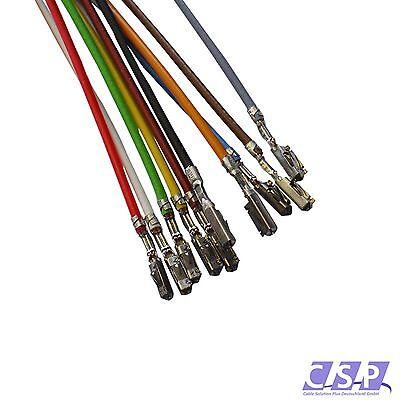 FLRY-B Kabel Leitung 0,50mm² SCHWARZ 10x MQS QUADLOCK FAKRA BUCHSE KONTAKT PIN