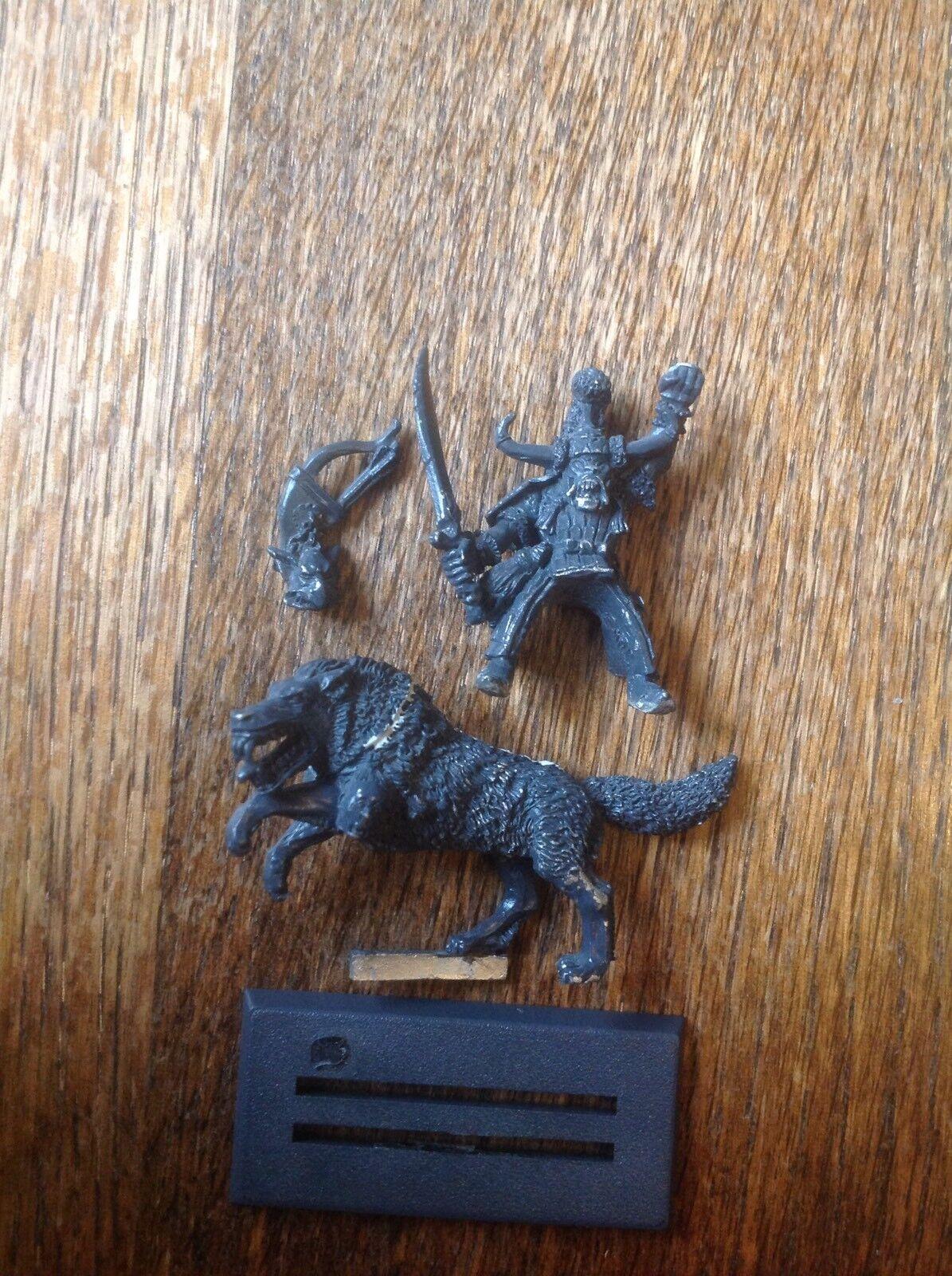Warhammer. Orcs Orruks Dogs Of War Hobgoblin Warlord Ghazak Khan. Metal.