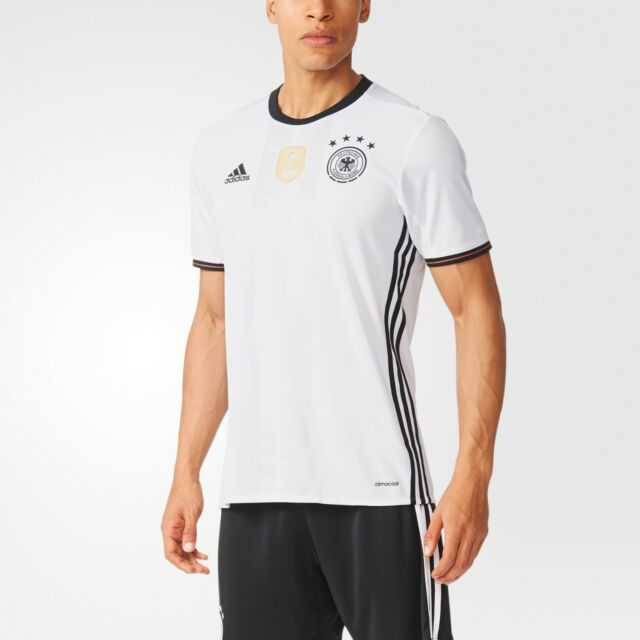 NEW MEN'S ADIDAS SOCCER GERMANY HOME JERSEY [AI5014]  WHITE//BLACK
