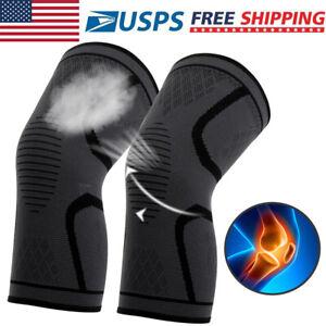 2x-Compression-Knee-Sleeve-Brace-Running-Arthritis-Joint-Support-Tennis-Copper