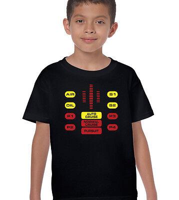 Knight Rider Kit Control Panel Kids Funny T-Shirt David Hasselhoff The Hoff