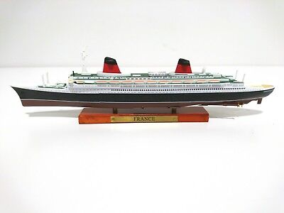 France Ocean Liner barco modelo escala 1:1250 listo el modelo-CAST METAL