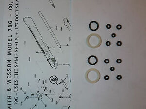 Smith & Wesson 78G 79G Two (2)  Seal Kits + Expl View +Parts list + Seal Guide