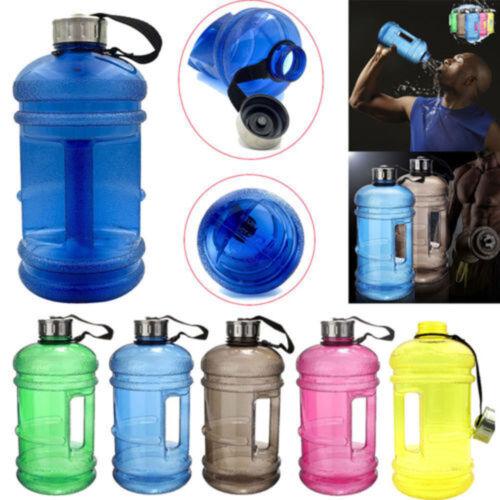 2.2L Big Large BPA Free Sport Gym Training Drink Water Bottle Cap Kettle Workout