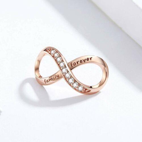 Charms Family Forever Infinity Argent Authentique Charm pour Bracelet Collier