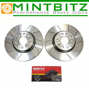 Mini-R50-R53-1-4-1-6-01-06-Grooved-Only-Front-Brake-Discs-amp-Pads