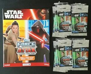 Album-Star-Wars-Topps-Force-Attax-Tradding-cards-game-Vacio-100-sobres-nuevos