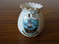 Florentine China Model of a Vase with Seal of Monmouth Crest