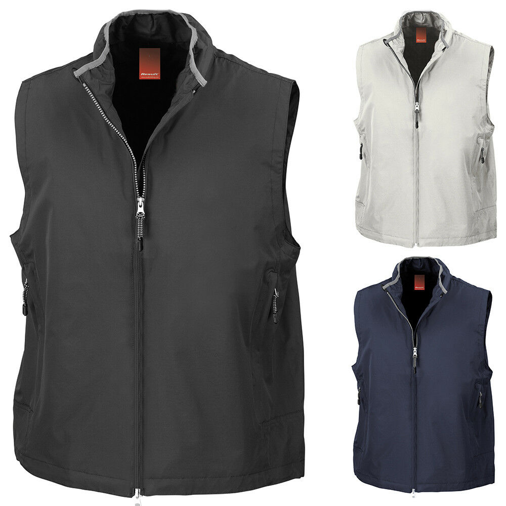 New RESULT Mens Casual Crew Mesh Lined Gilet Bodywarmer in 3 Colours XS - XXL