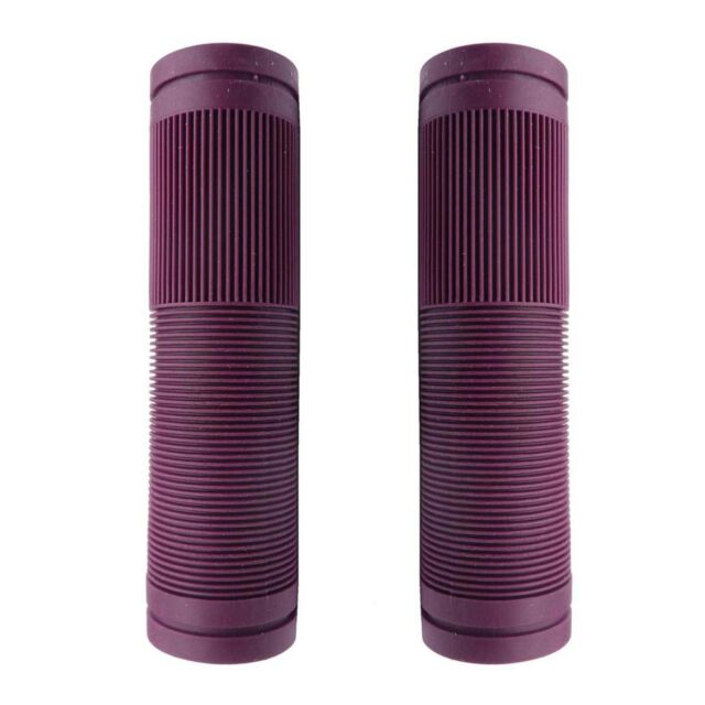 Mountain Bike Handlebar Replacement Grips PURPLE Closed End 130mm Bicycle Grips