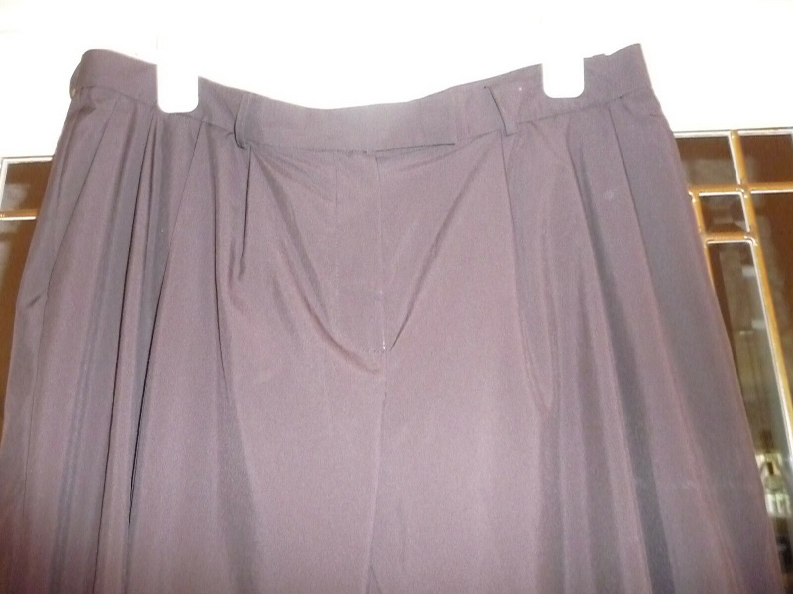 Lanvin front zip & pleated pants eggplant brown 36 waist see listing