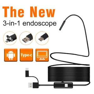 Details about 3 in 1 USB Android Endoscope 5 5MM Lens Inspection Camera  Waterproof