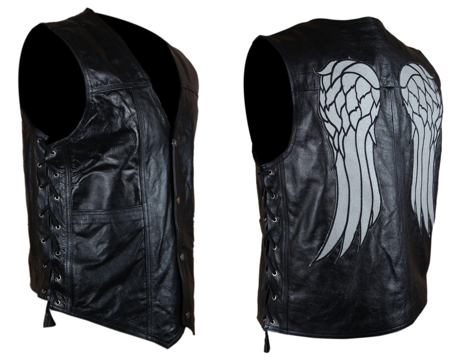 BNWT HQ Daryl Dixon Norman Reedus The Walking Dead Grade A Leder or Faux Vest