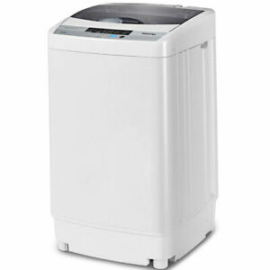 Portable Compact Washing Machine 1.34 Cu.ft Spin Washer Drain Pump 8 Water Level