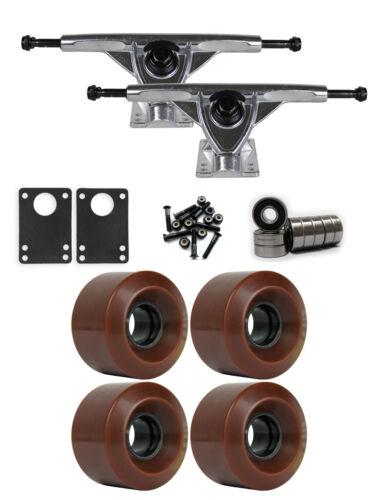 RKP Raw Longboard Trucks Wheels Package 60mm x 41mm 83A 1545C Brown