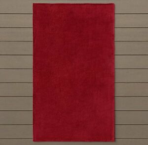Restoration Hardware 630-GRAM Double Faced Terry Large Beach Towel - POPPY Red