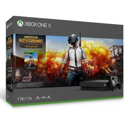Xbox One X 1TB PUBG Console Bundle   - Digital Download of PUBG included - Black