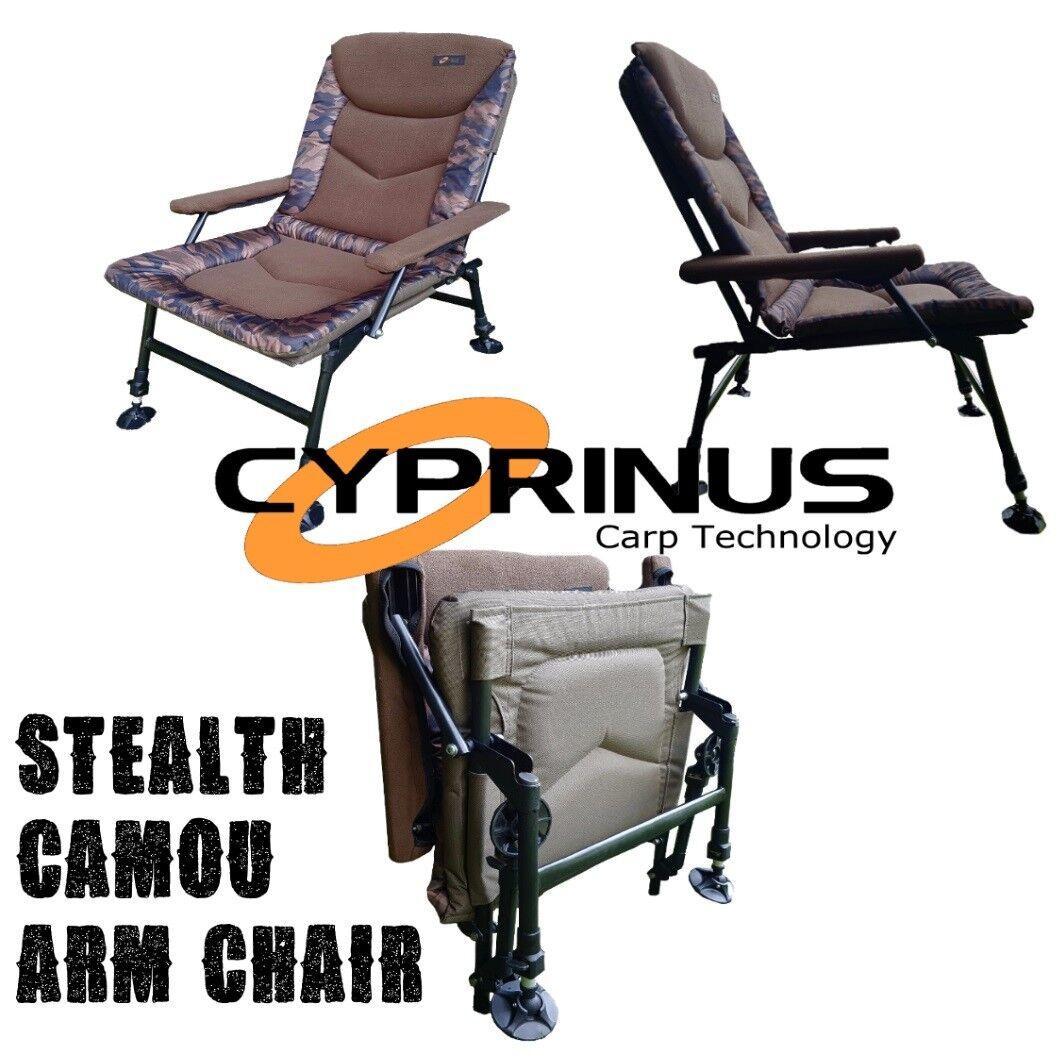 Cyprinus Stealth RIP STOP CAMO Camouflage Pêche à La voiturepe Fauteuil