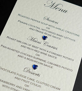 10 x handmade personalised wedding menu cards many colours free image is loading 10 x handmade personalised wedding menu cards many junglespirit Gallery