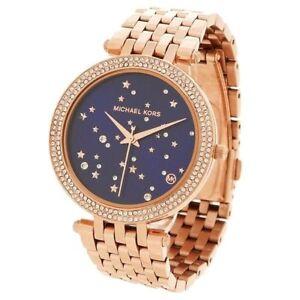 2a58a3bc5cad 100 Michael Kors MK3728 Darci Rose Gold Stainless Steel Quartz Womens Watch