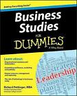Business Studies For Dummies(R) by Richard Pettinger (Paperback, 2013)