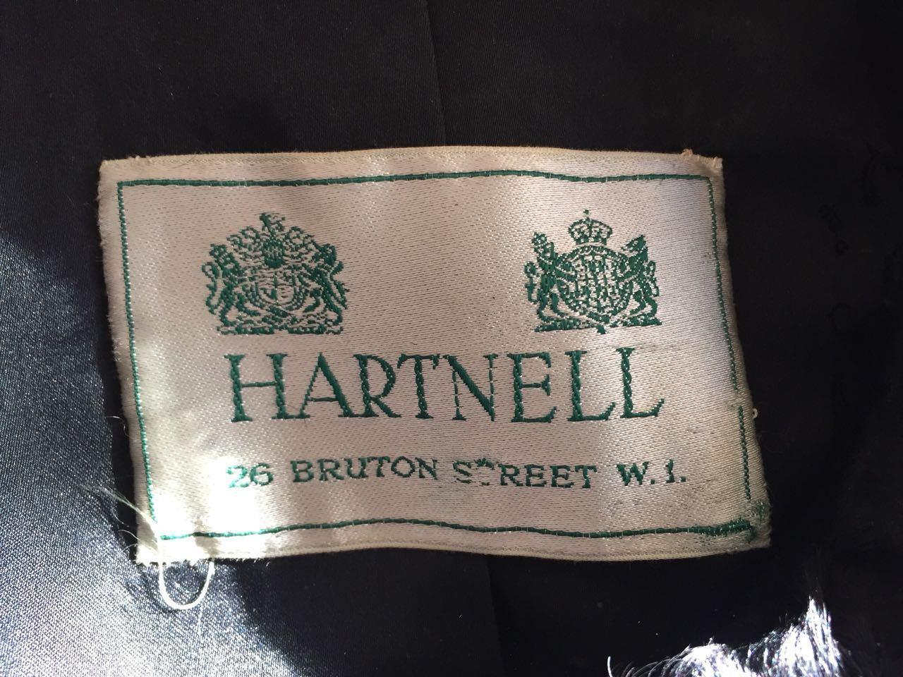 Hartnell designer coat/fur SZ SMALL MEDIUM - image 3