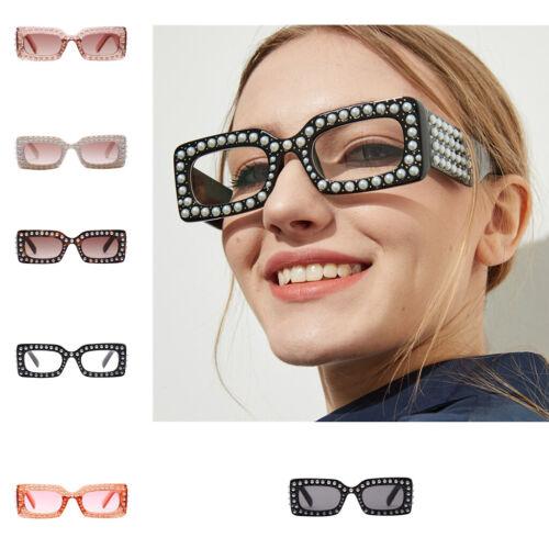 Damen Sonnenbrille mit Strasssteine Cat Eye Sunglasses Brille