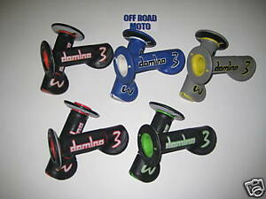 Domino-Experience-3-Trials-Bike-Grips-NEW-DESIGN-5-COLOURS-STOPS-ARM-PUMP