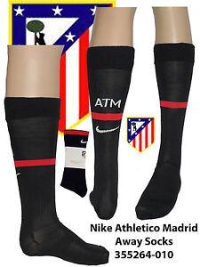 Athletico Madrid Calcetines UK zapato 7-11 Eu 42-47 Hombre 355264-010 Negro