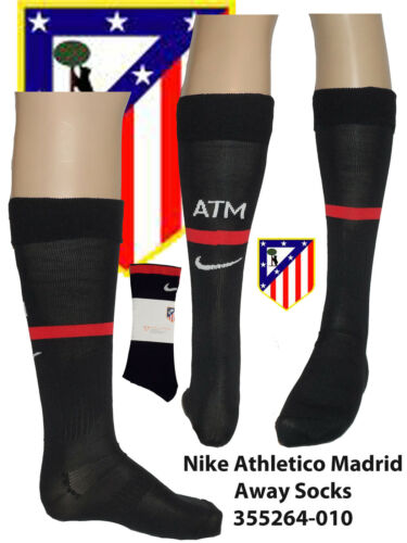 Athletico Madrid Socks UK SHOE  12-2 Euro 30-35 KIDS 355264-010 Black