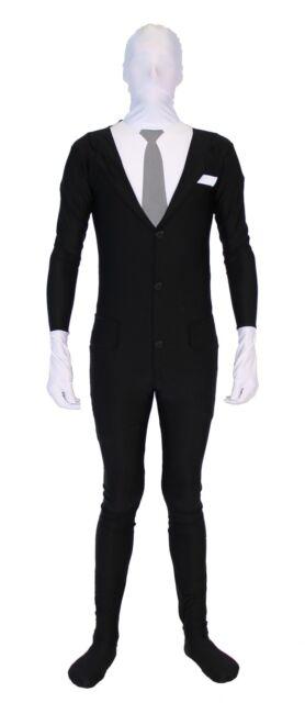 Adult/Teen Meme Slenderman Slender Man Spandex Full Body Zip Up Bodysuit Costume