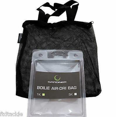 GARDNER FISHING - BOILIE AIR-DRI BAG - CHOOSE 1KG OR 5KG - NEW - (RMLL2)
