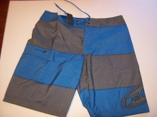 NEW FMF brand board shorts swim swimsuit trunks sz 36 or 38 blue gray stripe