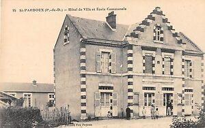 CPA-63-SAINT-PARDOUX-HOTEL-DE-VILLE-ET-ECOLE-COMMUNALE