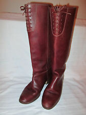 Womens Brown Vintage Lace Leather Boots size 10 B Made in Brazil