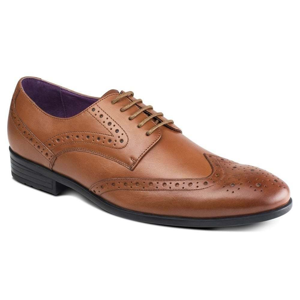 Azor Shoes Lancetti Tan Leather Shoes