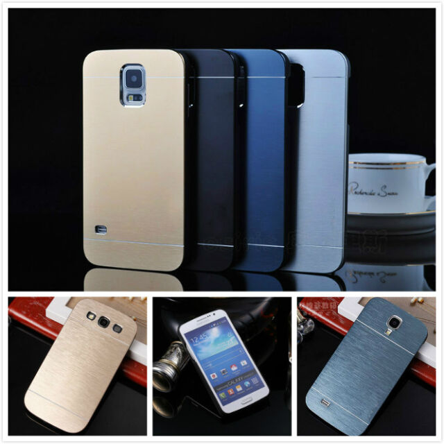 Brushed Aluminum PC Hard Back Cover Case Skin For Samsung Galax S9/S8 S7 Edge S6