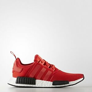 0fdcffa2a6167 Adidas NMD R1 Runner Nomad Boost Clear Red Black White Mesh BB1970 ...